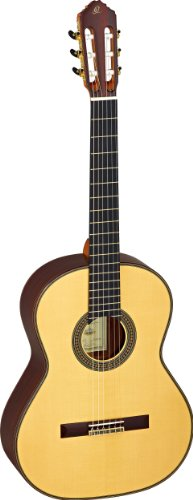 Ortega M20CS - Chitarra da concerto 4/4 Custom Master Selection, con finitura lucida, custodia inclusa