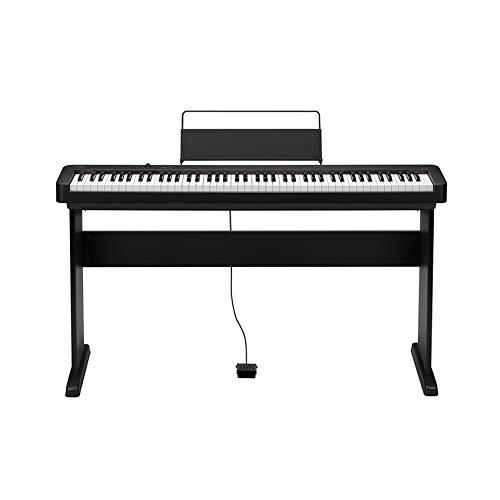 Casio CDP-S100 BK - Piano Digitale Professionale a 88 Tasti Pesati e 64 Voci Polifonica + Casio CS-46P Stand componibile per Tastiera Digitale CDP-S100, Nero