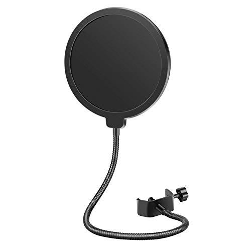 Neewer NW(B-3) 6' Filtro Antipop di Microfono da Studio con Clip di Supporto - Rotondo, Nero