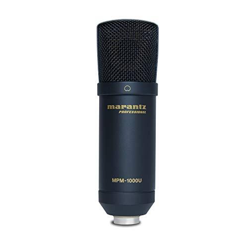 Marantz Professional MPM-1000U - Microfono USB a Condensatore con Diaframma Largo per il Podcasting e la Registrazione, Reggimicrofono e Cavo USB