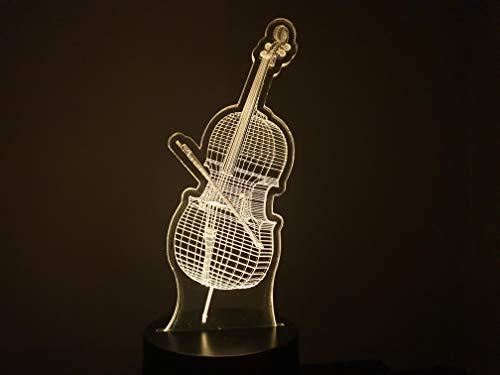 VIOLONCELLO, lampada da salotto 3D
