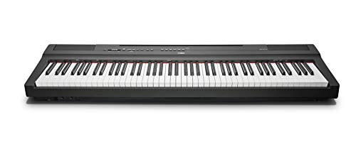 Yamaha Digital Piano P-125B, Pianoforte Digitale Compatto, Dinamico e Potente, Design Elegante e Facile da Usare, Compatibile con l'Applicazione Smart Pianist, Nero