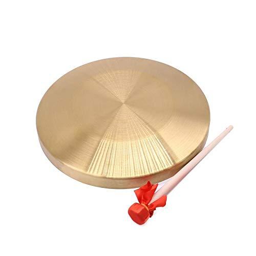 Kppto 15,5 Centimetri / 6inch Oro di Alta qualità a Mano in Rame Gong Impastiera Mini Slamming Strumenti Musicali Giocattolo Musica Kid (Colore : Oro)
