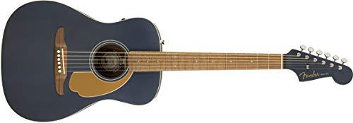 Fender Malibu Player Chitarra acustica - Midnight Satin - Tastiera in noce