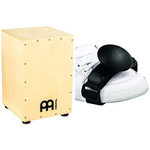 Meinl Percussion Headliner Cajon HCAJ1NT Hévéa natural & FS-BKShaker da piede, colore: Nero