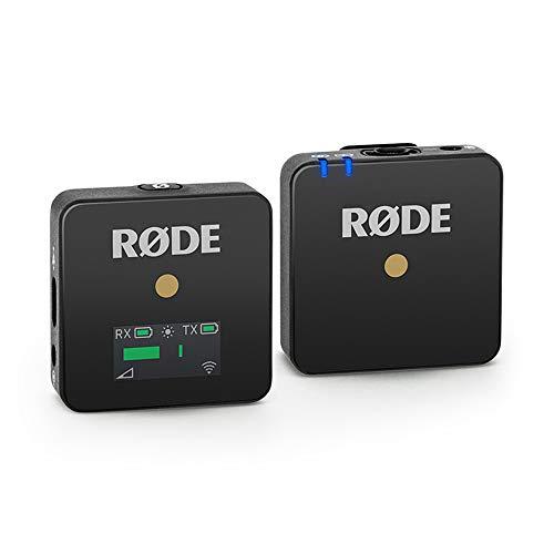 Rode microphones Wireless GO - Sistema microfono wireless compatto, 2.4GHz, Fino a 70 m di raggio, Nero