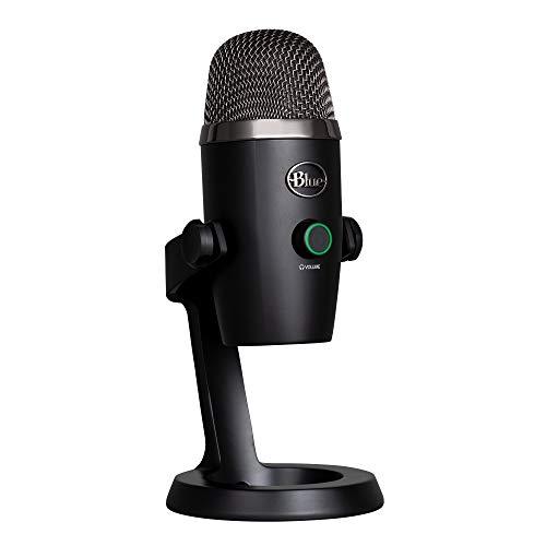 Blue Microphones Yeti Professional Multi-Pattern USB Mic for Recording and Streaming Microfono USB a Condensatore Professionale Nano con Pattern di Pickup, Streaming su PC e Mac, Nero