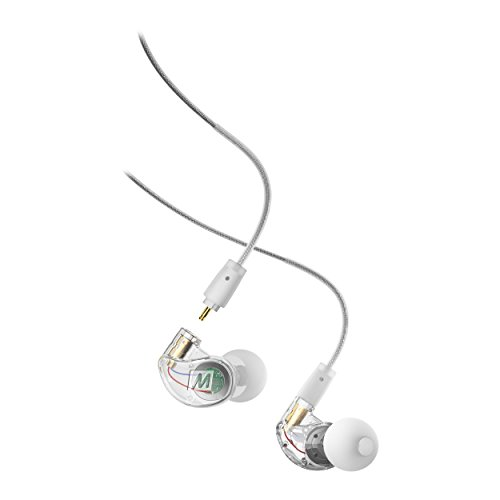 Mee audio M6Pro 2nd generation universal-fit noise-isolating musicisti'in-ear monitor con cavi staccabili Clear