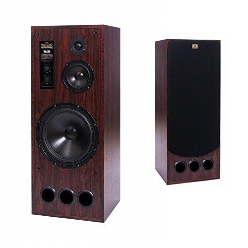 SM-300 Sound Master Coppia Diffusori Casse Acustiche Radiotehnika 3 vie 300W Noce