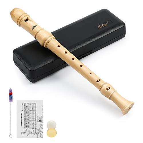 Eastar ERS-31GM Flauto dolce soprano, in legno d'acero, 3 pezzi, diteggiatura tedesca