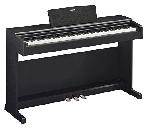 Yamaha Arius Digital Piano YDP-144B, Pianoforte Digitale con Suono da Concerto, Connettore Host USB, Compatibile con l'Applicazione Smart Pianist, Nero