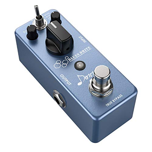 Donner Overdrive Pedale per Chitarra, Blues Drive Overdrive Effetto per Chitarra Elettrica True Bypass