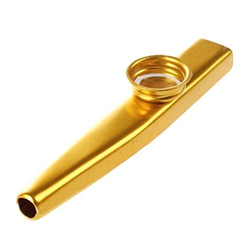SODIAL(R) dorato Metallo Kazoo Flute Bocca Strumento musicale Armonica