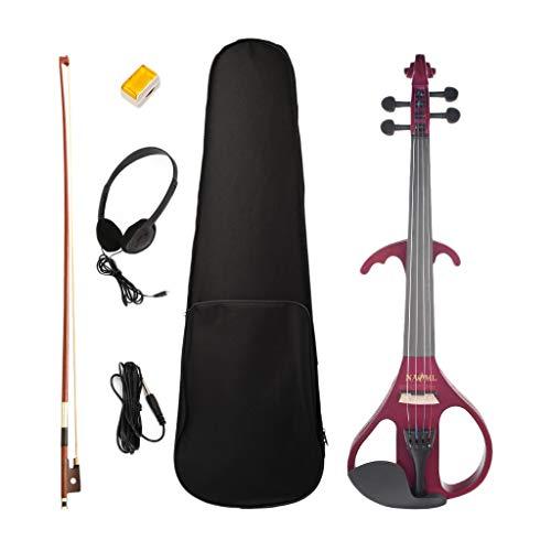 Almencla 4/4 Violino Elettrico In Legno Massello, Con Custodia, Arco, Colofonia, Cuffie, Regalo Per Studenti Alle Prime Armi