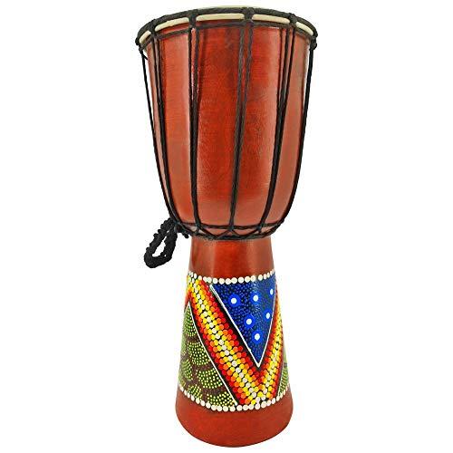 Tamburo djembe in legno, bongo dipinto dall'ottima qualità sonora OneSize 40cm Djembe Trommel Bongo Holz