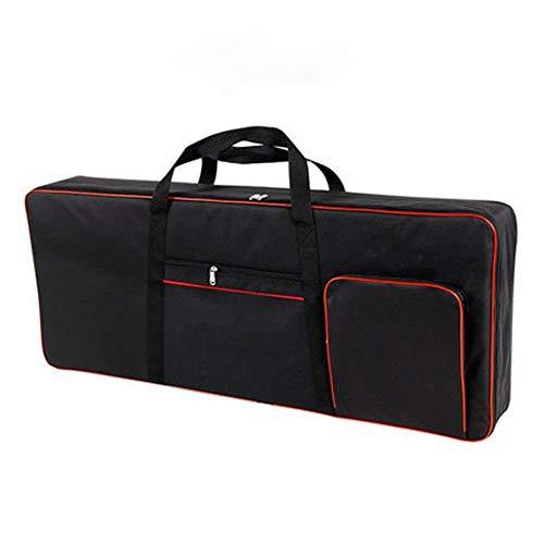 QEES, custodia per tastiera 61 note, per pianoforte elettrico, tessuto Oxford 600D, con custodia in cotone da 10 mm, colore: nero