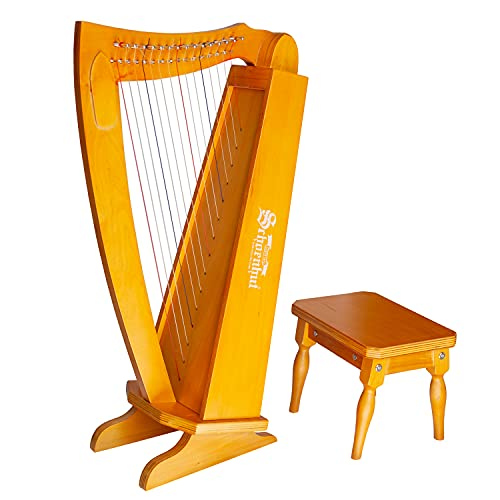 SCHOENHUT 15 String Lyre Harp - 27 '' Strumenti musicali a corde a corda con chiave a tuning arpa - Strumento Lyre Impara a suonare l'arpa - Strumenti arpa per bambini e adulti - Strumenti musicali in legno