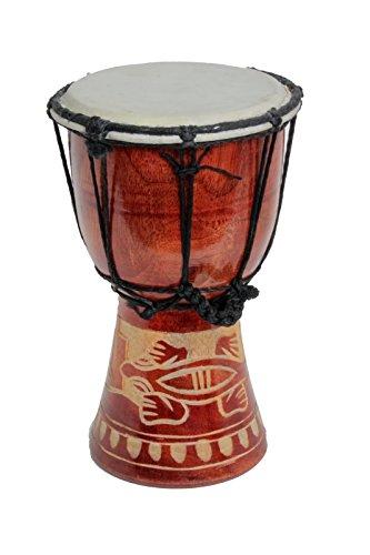 Tamburo Djembe, bongo, in legno A3, 60 cm, 50 cm, 70 cm Taglia unica 40cm Djembe Trommel Gecko Holz A3