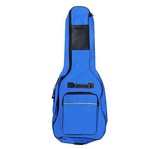 Accessotech - Custodia imbottita per chitarra acustica e classica di dimensioni standard, Blue
