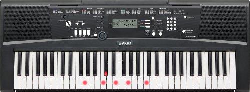 Yamaha Digital Keyboard EZ-220 Tastiera Digitale Portatile Ottima per Principianti, Connessione USB-to-Host con 61 Tasti Dinamici Luminosi e Funzioni di Apprendimento, Nero