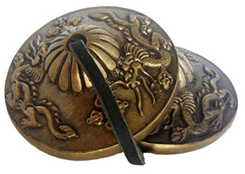 Tingsha o campana da meditazione tibetana, provenienza: Nepal (piccola)