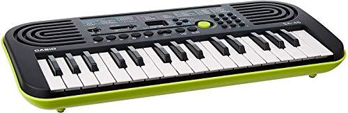 Casio SA-46 Mini Tastiera Elettronica Polifonica ad 8 Voci e 32 Tasti, Nero e Verde