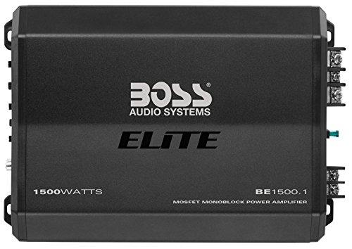 Boss Audio Elite BE1500.1 - Amplificatore monoblocco per autoradio, 1500 W, classe A/B