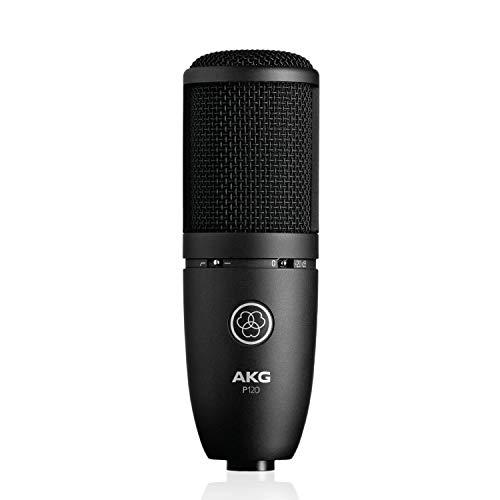 Akg P120 Microfono a Condensatore con Diaframma da 2/3' Ideale per Home Studio, Nero