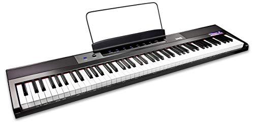 Rockjam 88 Principiante Tasto di Pianoforte Digitale Tastiera del Pianoforte con Fullsize Semiweighted Chiavi Leggio Pianoforte Nota Potere Adesivo Fornitura e Integrato Gli Altoparlanti, 20 Watt