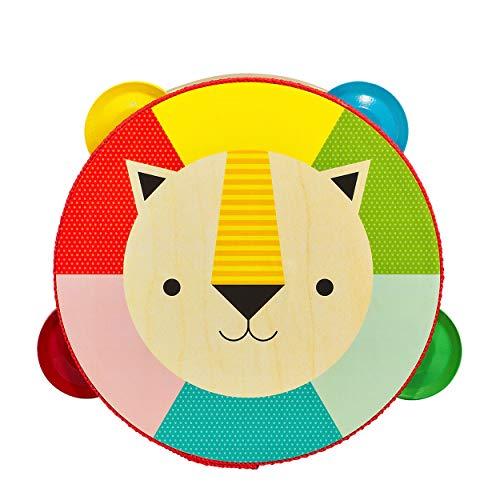 Petit Collage PTC342 - Tamburello a Forma di Leone, in Legno, Multicolore