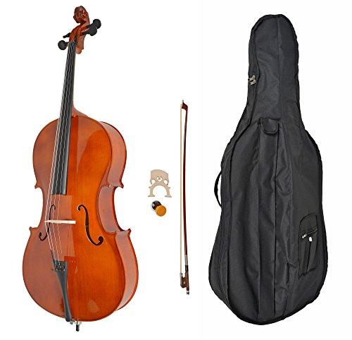 Violoncello classico TS-IDEEN completo di arco, custodia e colofónia. Color legno naturale con finitura lucida. Dimensioni regolari (4/4).