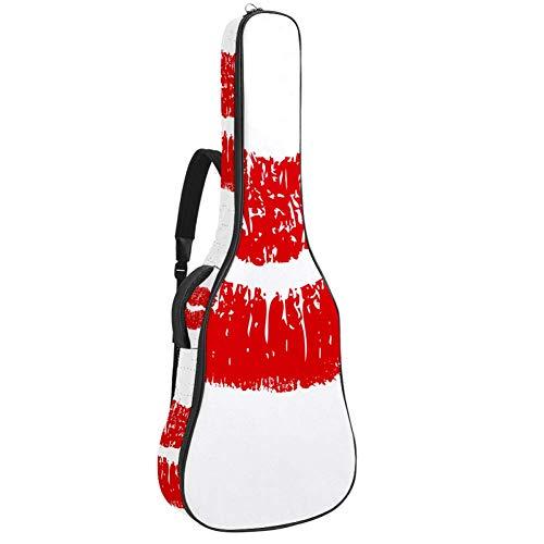 Custodia impermeabile con cerniera morbida per chitarra, bassi, acustici e classici, borsa per chitarra elettrica, con scritta rossa