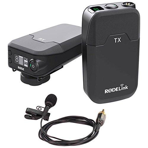 Rode RODELink Filmmaker Kit con Ricevitore RX-CAM, Trasmettitore TX-BELT e Microfono Lavalier, Nero