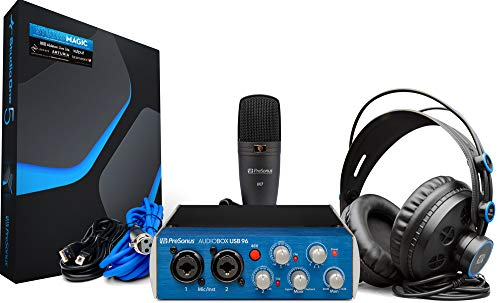 PreSonus AudioBox 96 Studio, Classico, Interfaccia, Microfono e Cuffie