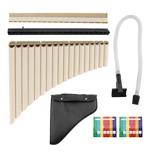 18 Tubi Professionali Pan Flauto Strumento Musicale Panpipe Musica Wind Instrumentos Musicales con Borsa di Stoccaggio a Due vie Giocare