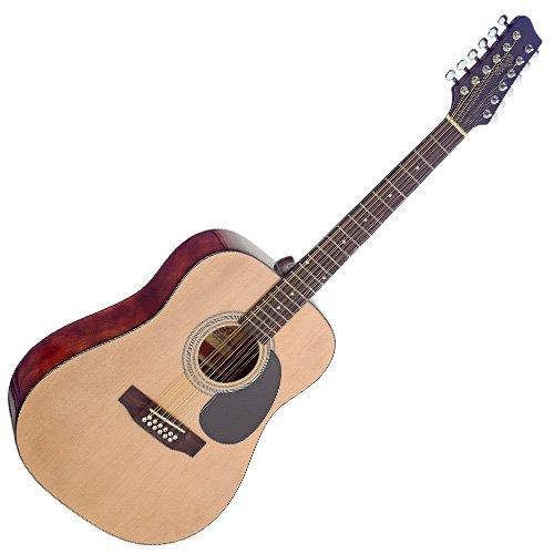 Stagg 25020902 SA40D/12-N MatH NAT - Chitarra acustica in abete, a 12 corde
