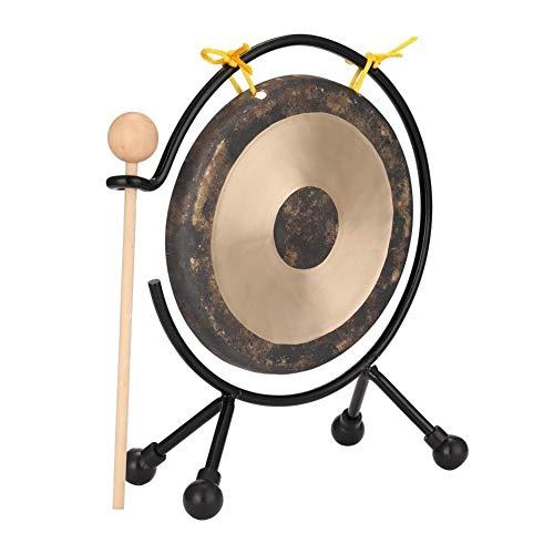 Aaren Piccola percussione Strumenti Musicali Gong Cinese Tradizionale con Gong Stand Regalo Bambini Strumenti Musicali