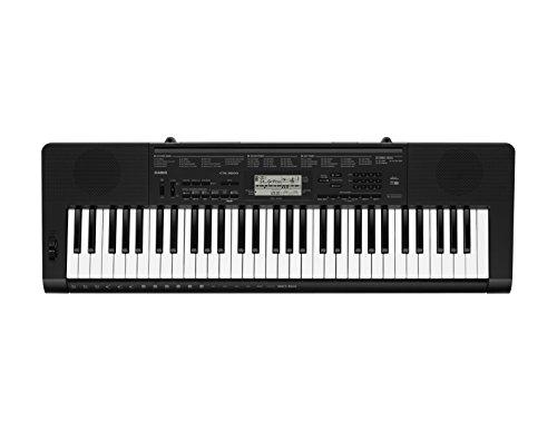 Casio CTK-3500 - Tastiera digitale arranger polifonica 61 tasti stile pianoforte a 48 note, Nero