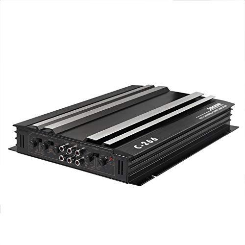 PROZOR Amplificatore Audio per Auto con 4 Canali 5800W Power Amplifier Surround Stereo 4 Ohm Amplificatore di Potenza Audio Stereo per Auto Collegato a 4 Altoparlanti o 2 Altoparlanti + 1 Subwoofer