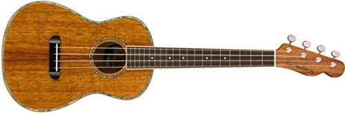 Fender Montecito ukulele tenore, naturale e custodia