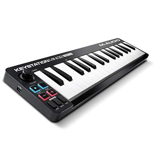 M-Audio Keystation Mini 32 MK3 - Tastiera MIDI Controller USB Portatile, Mini-USB con ProTools First- M-Audio Edition e Xpand!2 By AIR Music Tech