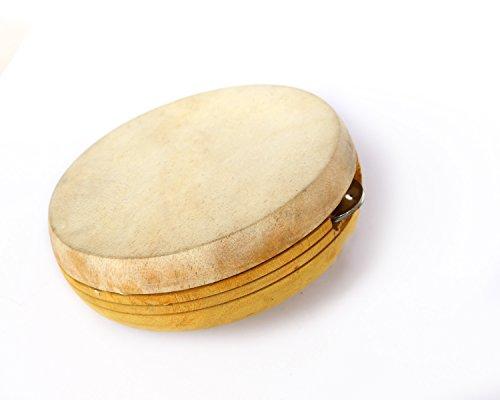 De Kulture WorksTM Kanjira - Strumento musicale a percussione, 16,5 x 6,3 cm