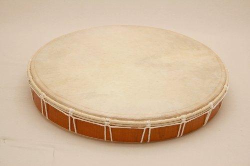 Tamburo a cornice, tamburo sciamanico, in pelle naturale, diametro di 50 cm, battente incluso