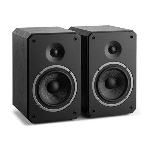 NUMAN Octavox 702 MKII – Coppia Casse Altoparlanti a due vie da scaffale (100 Watt MAX, Bass reflex, Contatti Dorati, Alloggiamento rinforzato) Nero