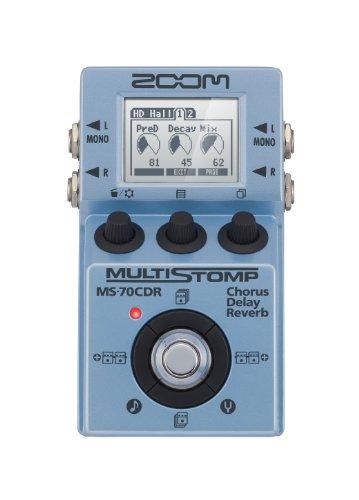 Zoom Zoom ZMS70CDR MS-70CDR MultiStomp Chorus/Delay/Reverb Pedal Tappo per orecchie 6 Centimeters Nero (Black)