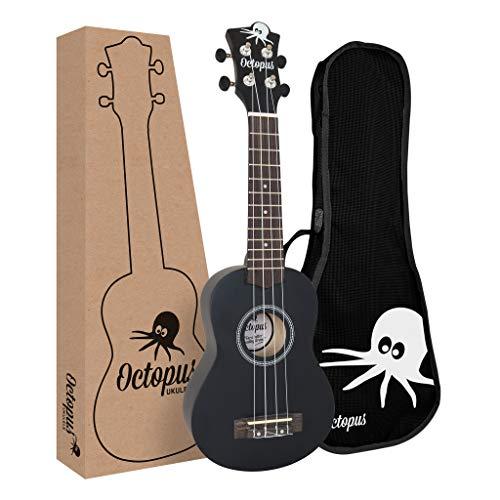 Octopus uk200d-bk ukulele soprano, nero opaco
