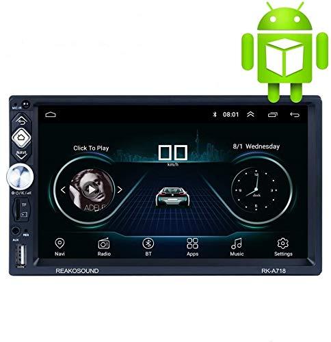 X-REAKO Andorid 8.1 Radio 2 DIN Bluetooth Car Stereo 7 pollici 1080HD Touch screen capacitivo GPS di navigazione Auto Radio Am, Mirror Link, Wi-Fi, 1 GB RAM 16 GB ROM