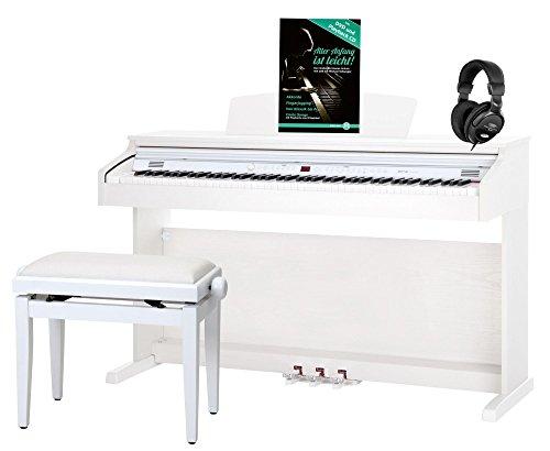 Classic Cantabile DP-50 WM pianoforte digitale bianco opaco panchetta cuffie