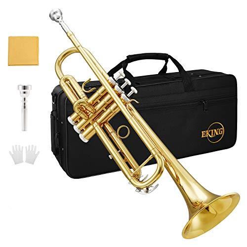 Eking KTR-400 Tromba standard per Studenti Principianti, Oro,Bb