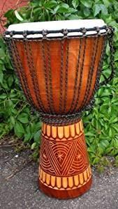 Ciffre B20 - Tamburo Djembe professionale, suono fantastico + istruzioni, in stile africano